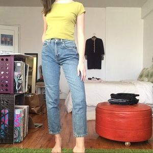 Classic High Waisted Denim Jeans